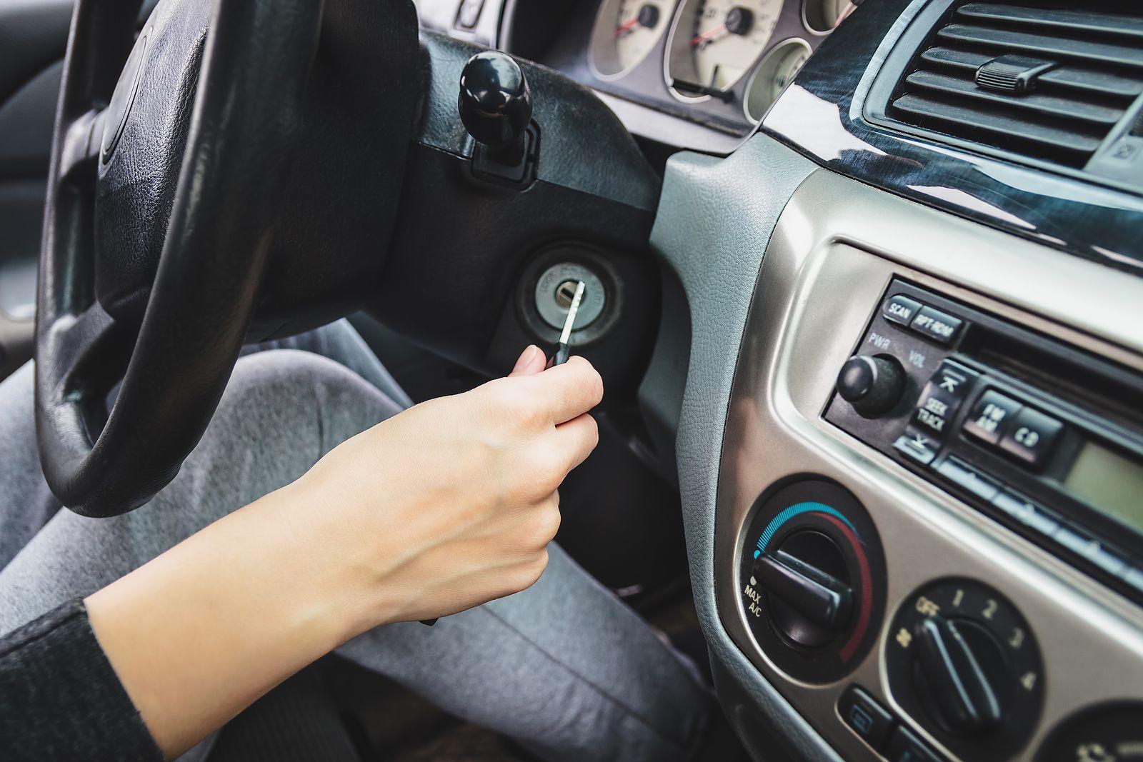broken car ignition key