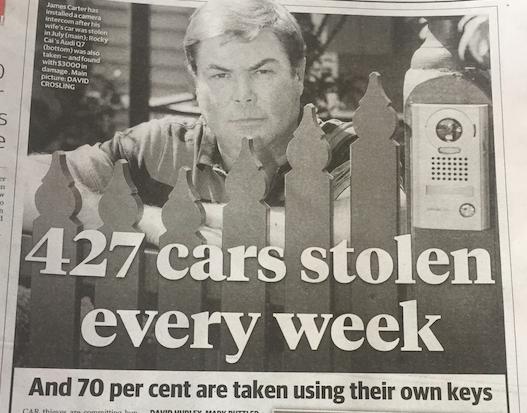 car theft stats vic