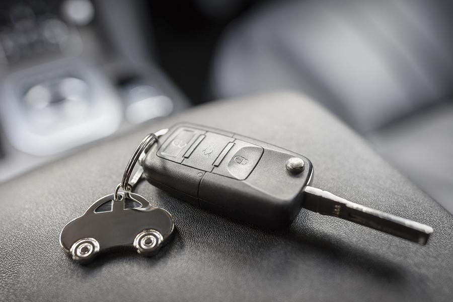 worn car key